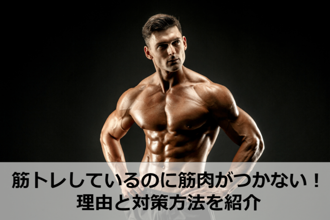 筋肉 つかない